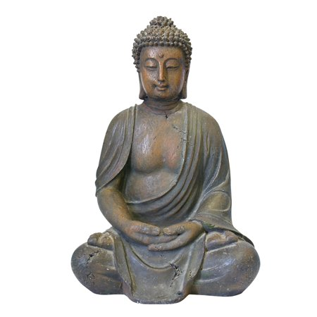 - Alpine Corporation Outdoor Meditating Buddha Statue