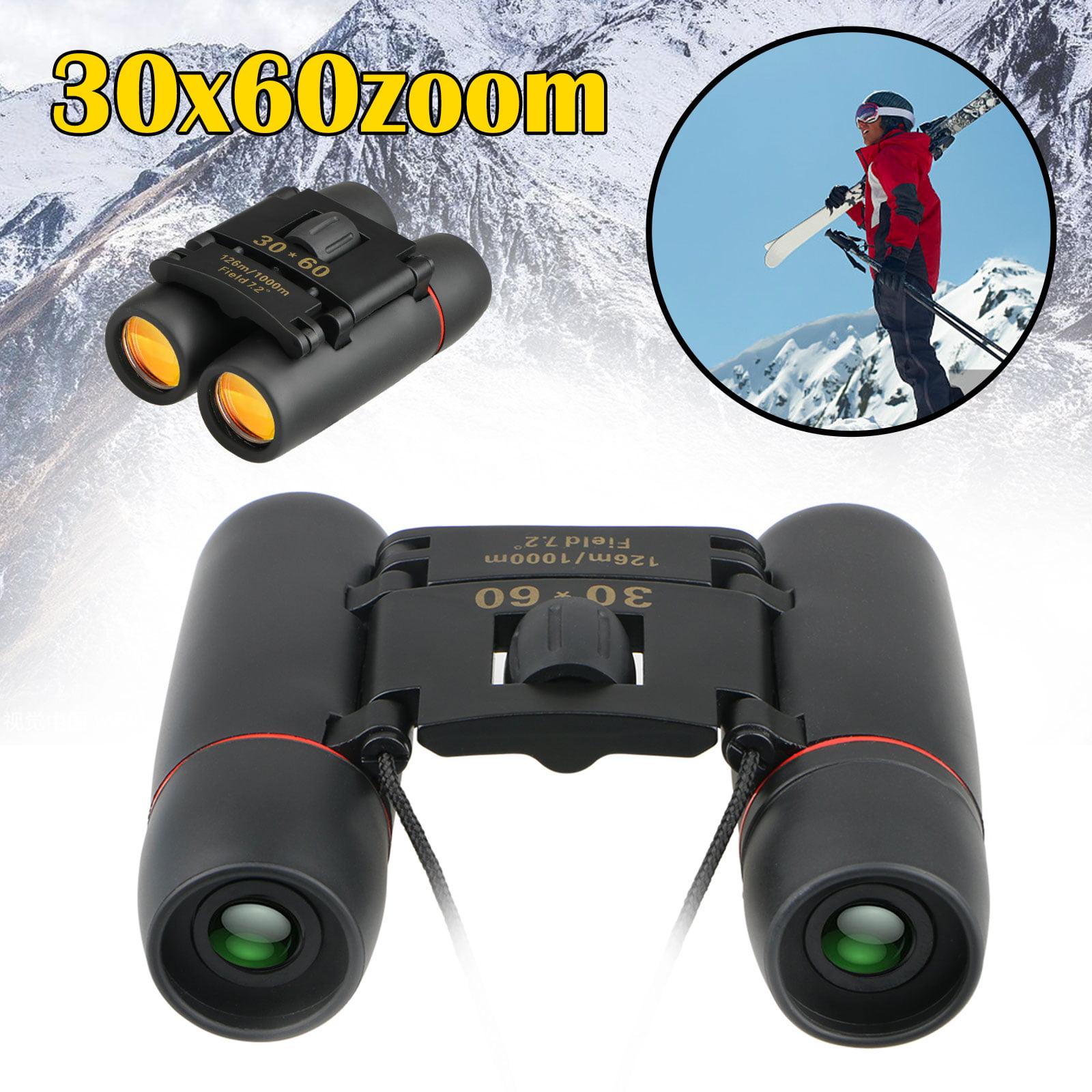 Kids Binoculars, 30x60 Mini Binoculars Folding Binoculars Compact Binoculars for Kids Waterproof Telescope for Bird Watching, Football Safari Sightseeing, Camping and Travel