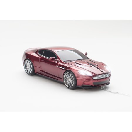 Aston Martin DBS Wired Optical Click Car Mouse, Magnum Red