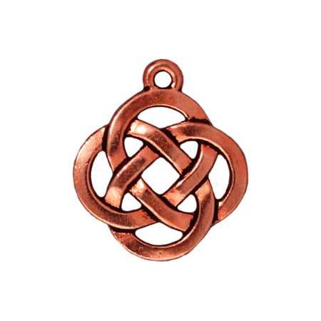 Copper Plated Pewter Celtic Knot Open Pendant Charm 20mm (Copper Celtic Knot)