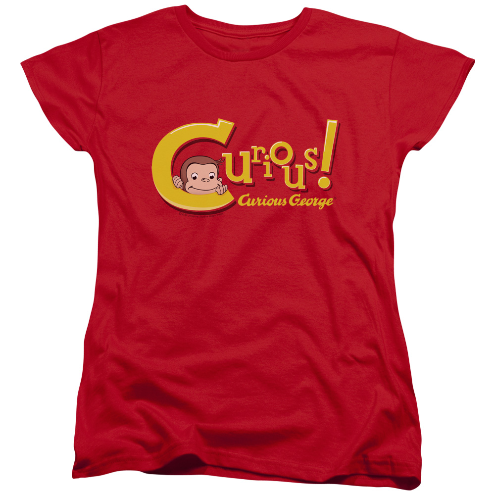 CURIOUS GEORGE/CURIOUS - S/S WOMEN'S TEE - RED - 2X
