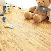 Babyroom 24 Pcs EVA Foam Interlocking Floor Mats, Grain Wood