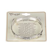 Count your Blessings Love your Neighbor Inspirational Religious Silver-tone Bracelet