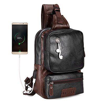 VICUNA POLO Men Sling Backpack Anti-theft External USB Charge Crossbody Bag  Man d382d40e53