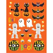 Club Penguin Halloween Party Game On (Club Pack of 48 Assorted Halloween Spooky Friends Party Favor Stickers)