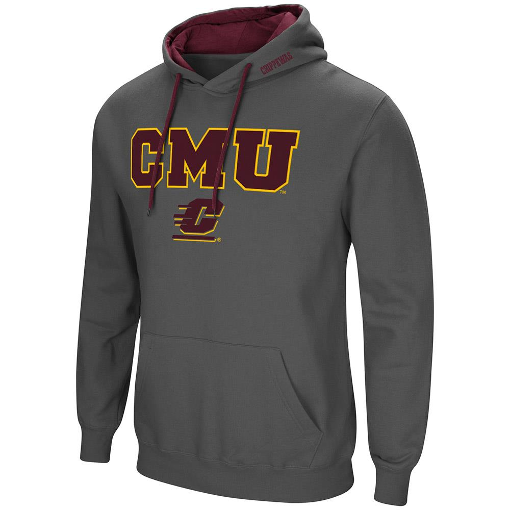 Mens CMU Central Michigan Chippewas Pull-over Hoodie XL by Colosseum