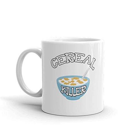 Cereal Killers (Cereal Killer Pun Funny Novelty Humor 11oz White Ceramic Glass Coffee Tea Mug)