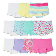 Girls' 100% Cotton Boy Short Panties, 11 Pack
