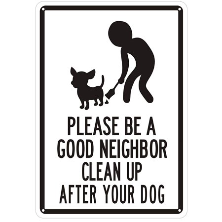 This is our home Help us keep it clean and beautiful. PLEASE CURB AND PICK UP AFTER YOUR DOG Sign ( Aluminum Sign 6 X 11) (Help Us Halloween Sign)