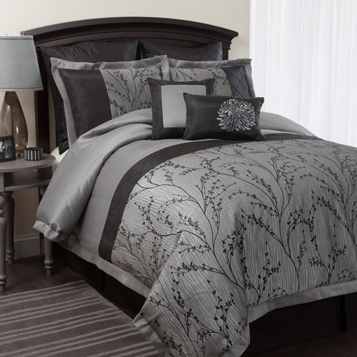 Flower Texture 8-Piece Comforter Set
