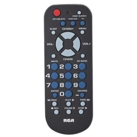 3 Device Universal Palm Style Remote Control Controls Televisions Only One 3 Device; Universal; Palm Style Remote Control; Controls Televisions; VCR & Cable Box; Menu Key; Code Saver; Extensive Code Library; Easy To Use Channel & Volume Keys; Palm Size For Comfortable Holding & Sleep Timer.