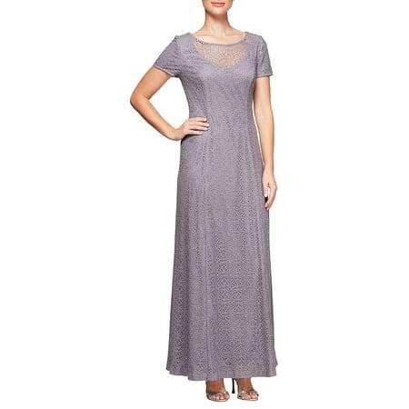 Alex Evenings Sleeveless - Short-Sleeve A-Line Dress