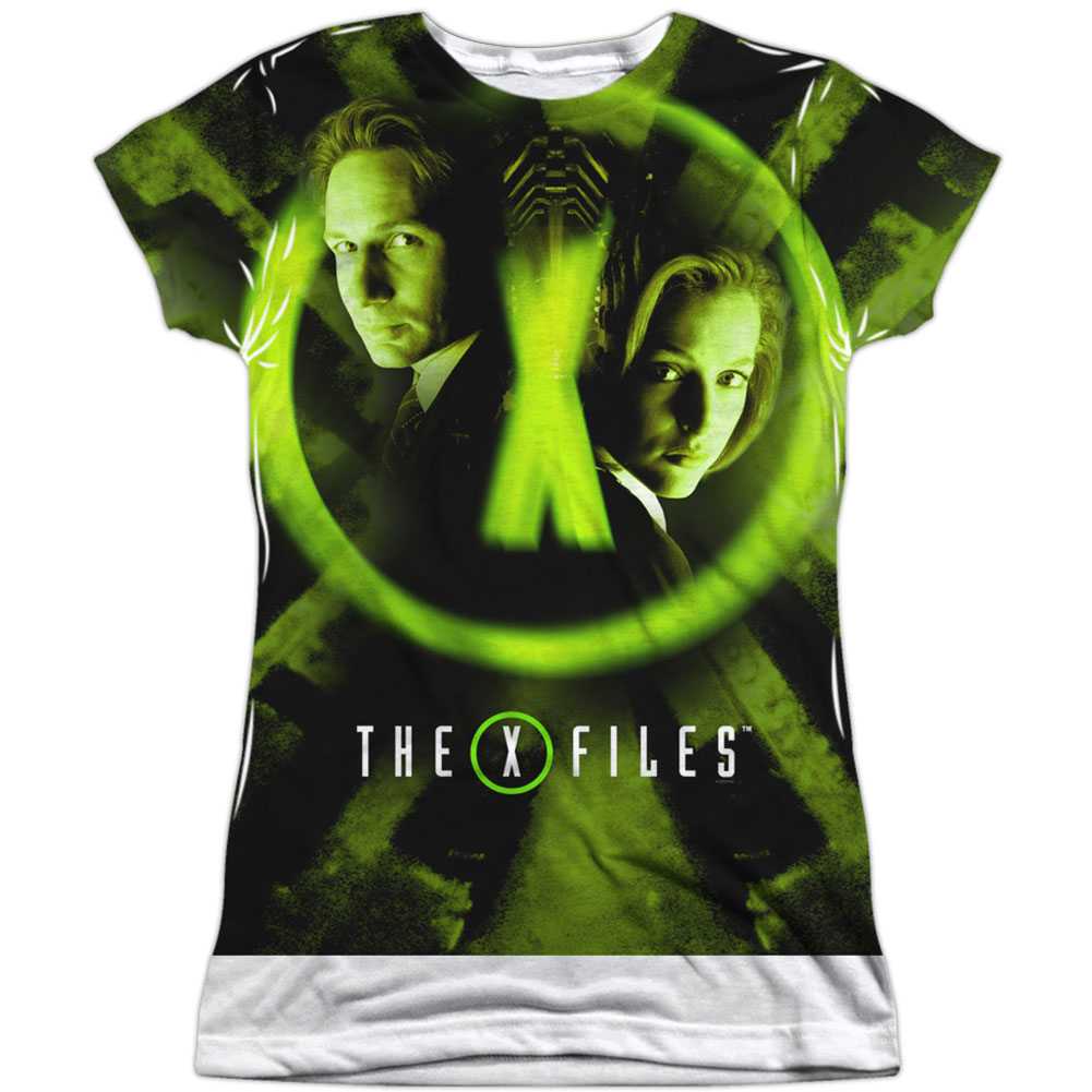 X Files  Trust No One Girls Jr Sublimation White