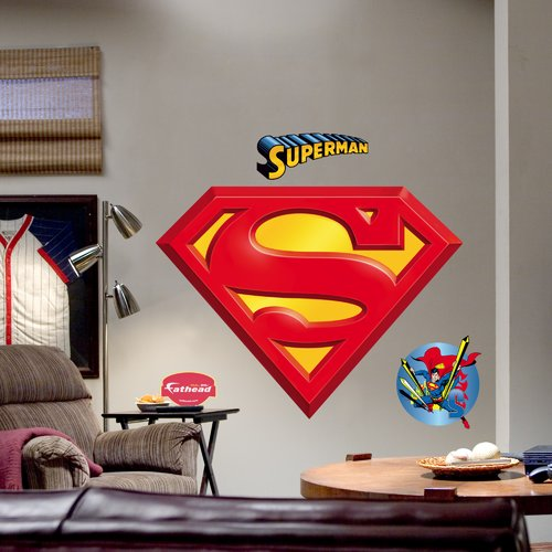 Fathead Super Heroes Superman Logo Wall Decal