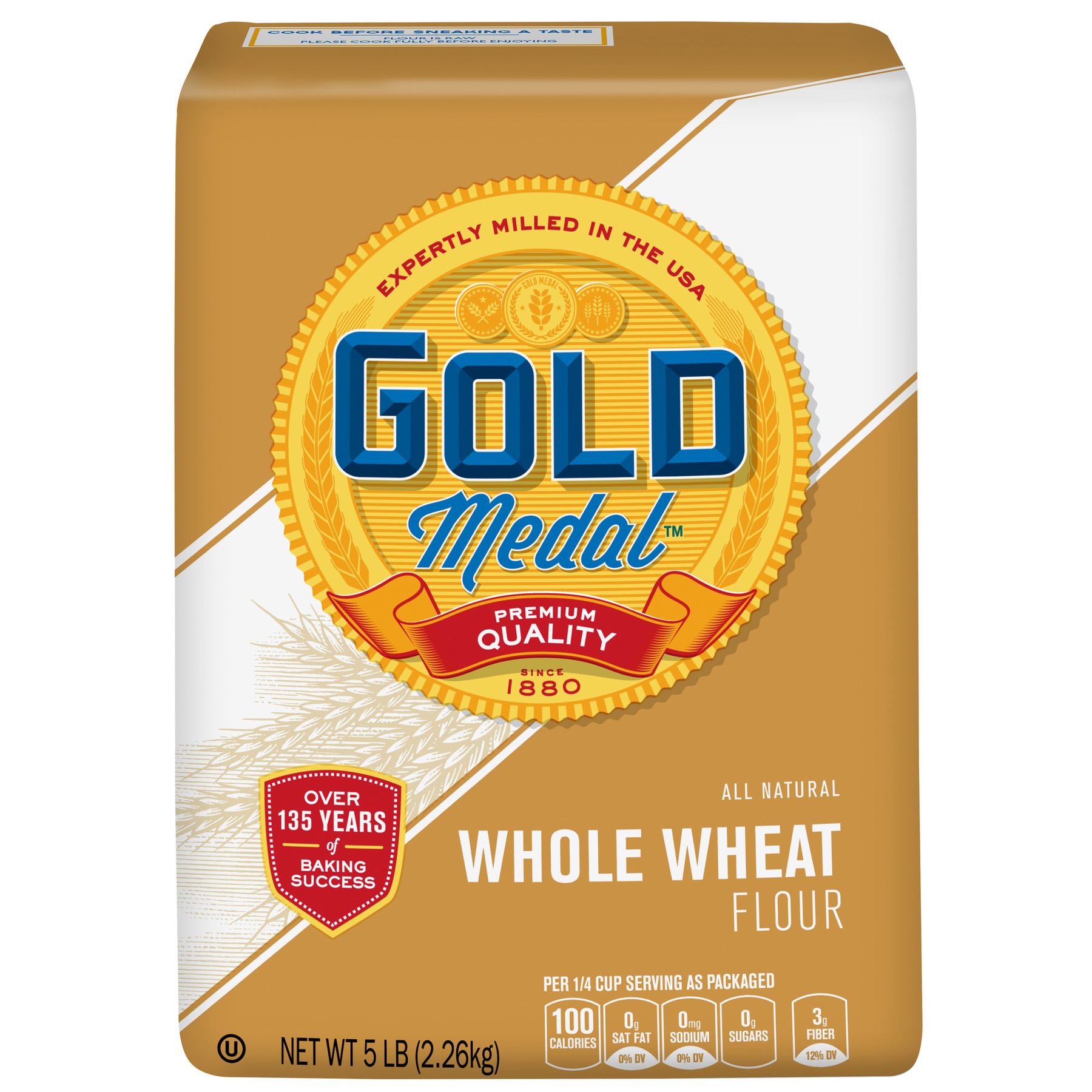 Gold Medal Whole Wheat Flour, 5 lb Bag
