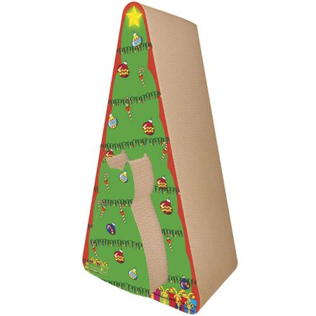 f9286d3e81321 Imperial Cat Scratch  n Shapes 2 piece Christmas Tree Recycled paper ...
