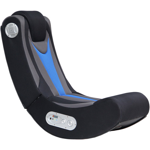X Video Rocker Fox 2.1 Wireless Audio Gaming Chair, Black/Blue/Gray, 5171401