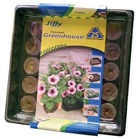 42mm Professional Greenhouse 25-Plant Starter Kit, Jiffy Professional Greenhouse 25 cell count By Jiffy