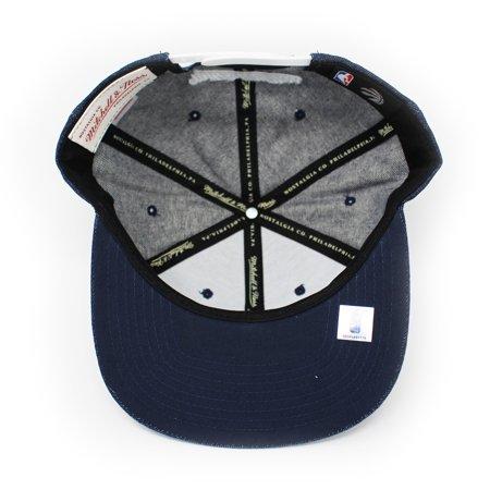 Mitchell and Ness Toronto Raptors Polka Dot Denim Blue Snapback Hat - image 1 of 5