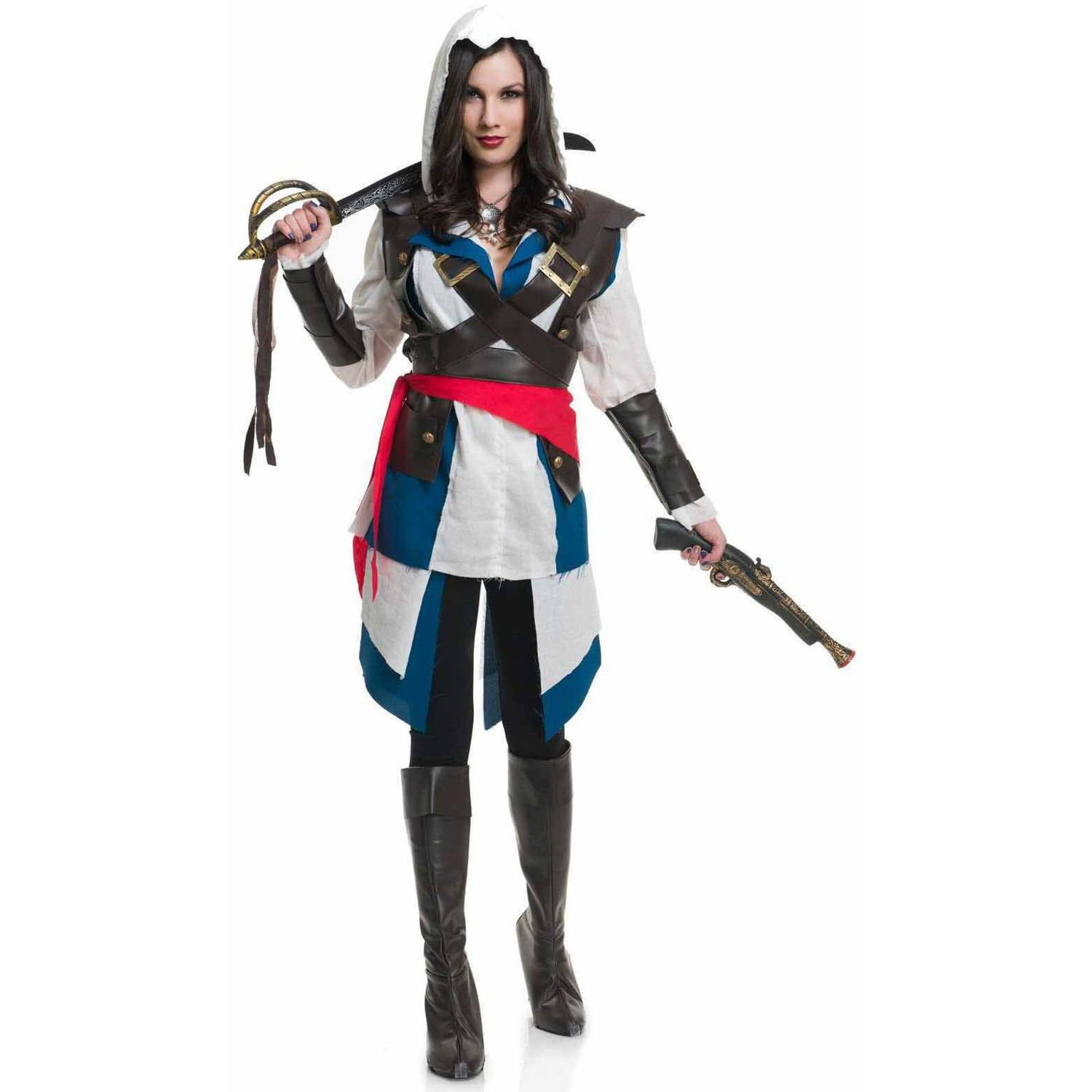 Cutthroat Pirate Assassin Lady Video Game Womens Halloween Costume