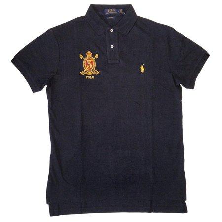 New  3328-3 Polo Ralph Lauren Navy Blue Gold Crest Custom Fit Polo Shirt Sz XLarge (Navy Polo Ralph Lauren)