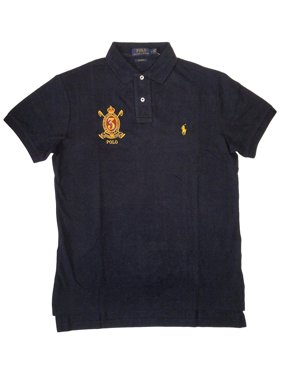 a311dbe306a Product Image New 3328-3 Polo Ralph Lauren Navy Blue Gold Crest Custom Fit Polo  Shirt Sz