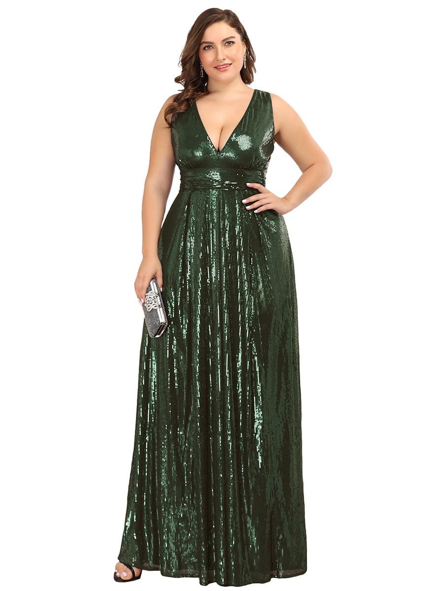 Ever-pretty - Ever-Pretty Women's V-Neck Long Sequin Dress ...