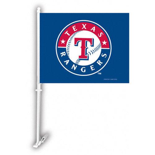 MLB - Texas Rangers 11x14 Double Sided Car Flag - Set of 2