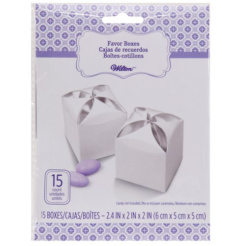 Wilton Favor Box Petal White Silver