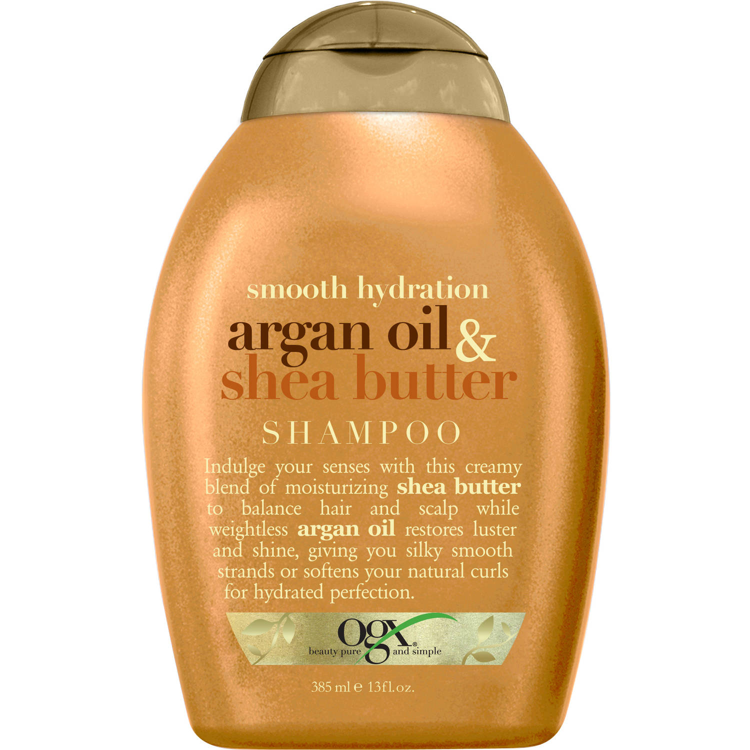 OGX Smooth Hydration Argan Oil & Shea Butter Shampoo, 13 Oz
