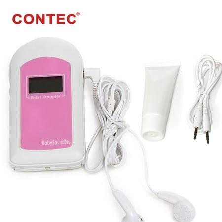 Pocket Doppler fœtal son bébé B prénatale Moniteur de fréquence cardiaque Affichage LCD