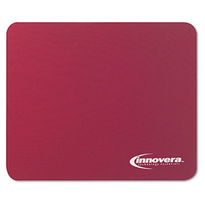 LATEX-FREE SYNTHETIC RUBBER MOUSE PAD, BURGUNDY