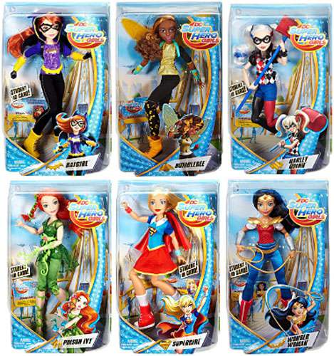 DC Comics DC Super Hero Girls Poison Ivy, Wonder Woman, Supergirl, Harley, Bumblebee, Batgirl Set of 6 Deluxe... by