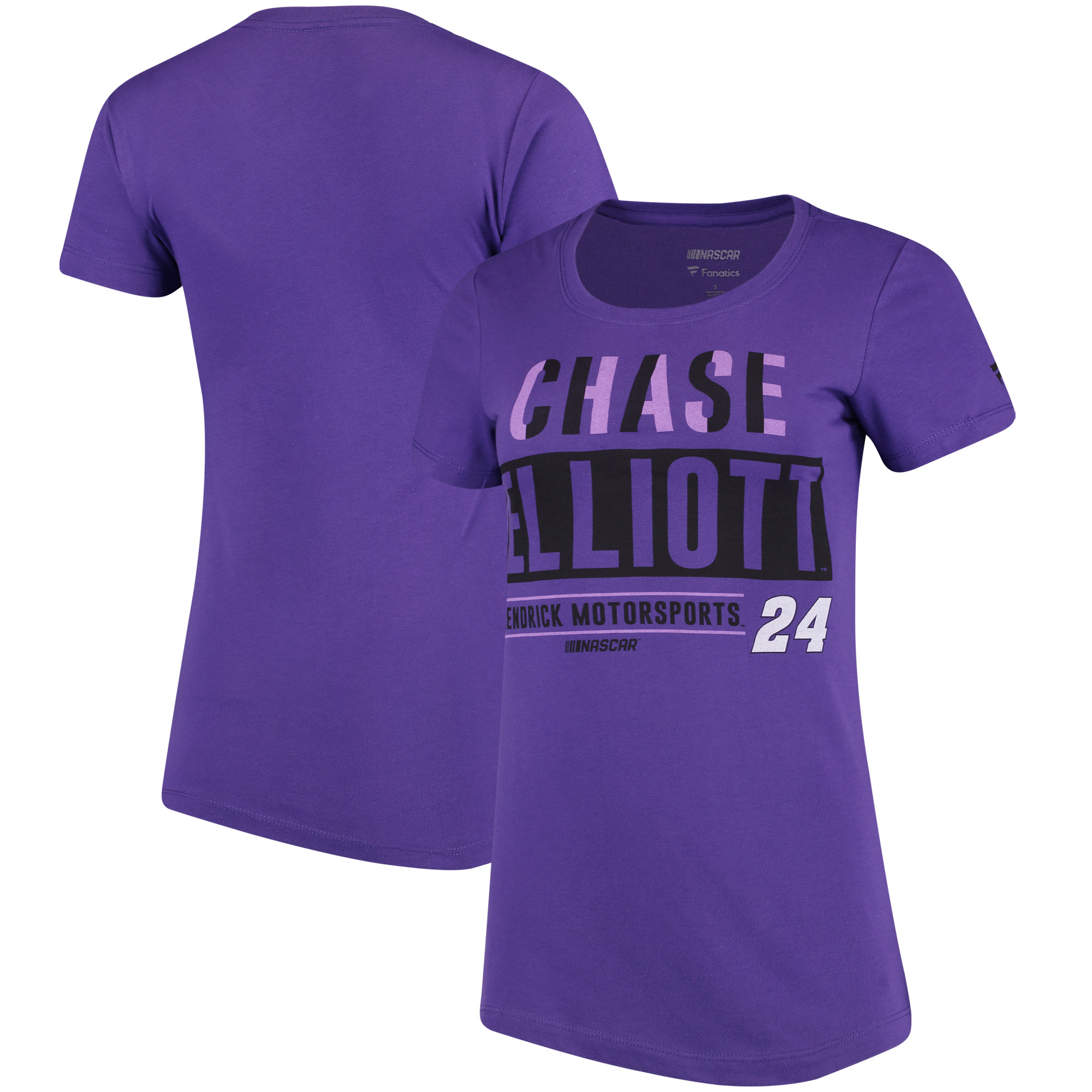 Chase Elliott Fanatics Branded Women's Driver Team T-Shirt - Purple