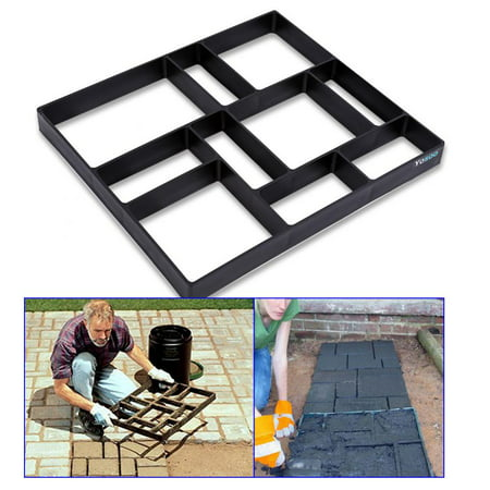 OTVIAP 45cm Garden DIY Plastic Path Maker Model Road Paving Cement Mould Brick Stone for Home Yard ()