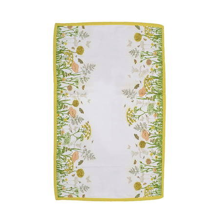 Tea Garden Cream and Yellow Butterfly and Flower Table Runner 16