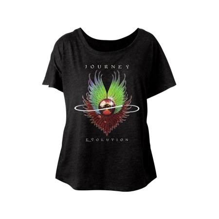 Journey Rock Band Music Group Evolution Album Ladies Dolman Slouchy T-Shirt Tee