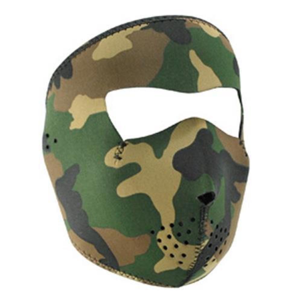 Zan Headgear Full Face Mask Woodland Camo (Green, OSFM) by Zan Headgear