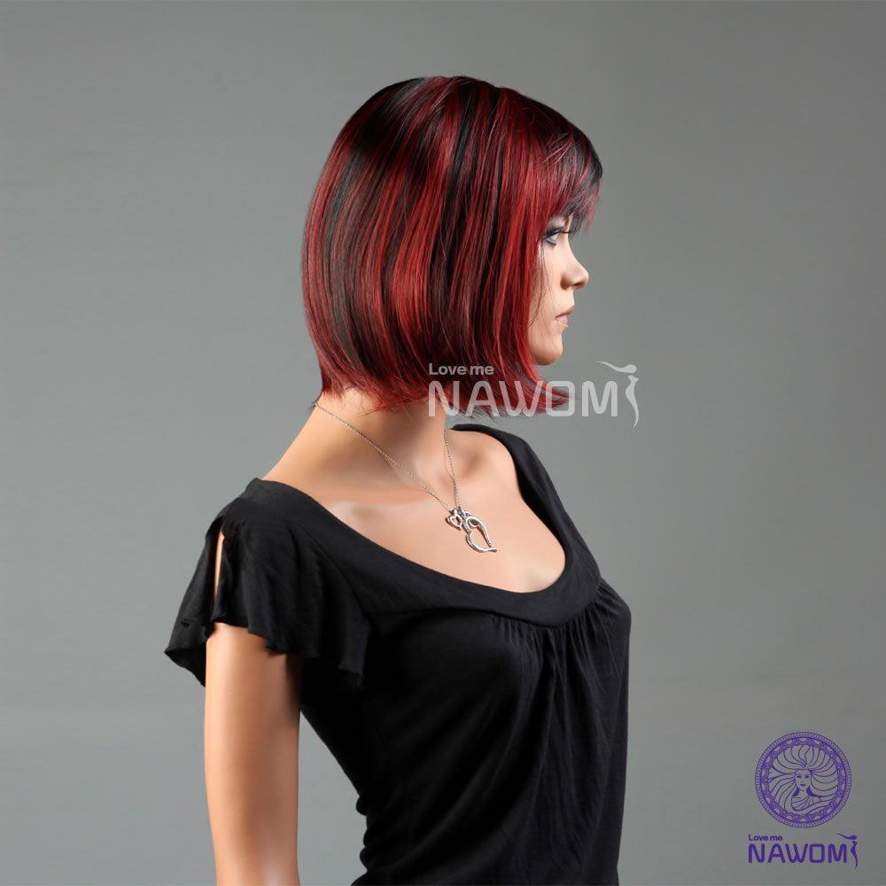 Nawomi New Fashion Girls Women Bob Short Straight Red Black Hair