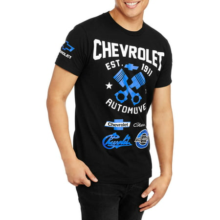 Mens Chevrolet Automotive Short Sleeve Graphic Tee