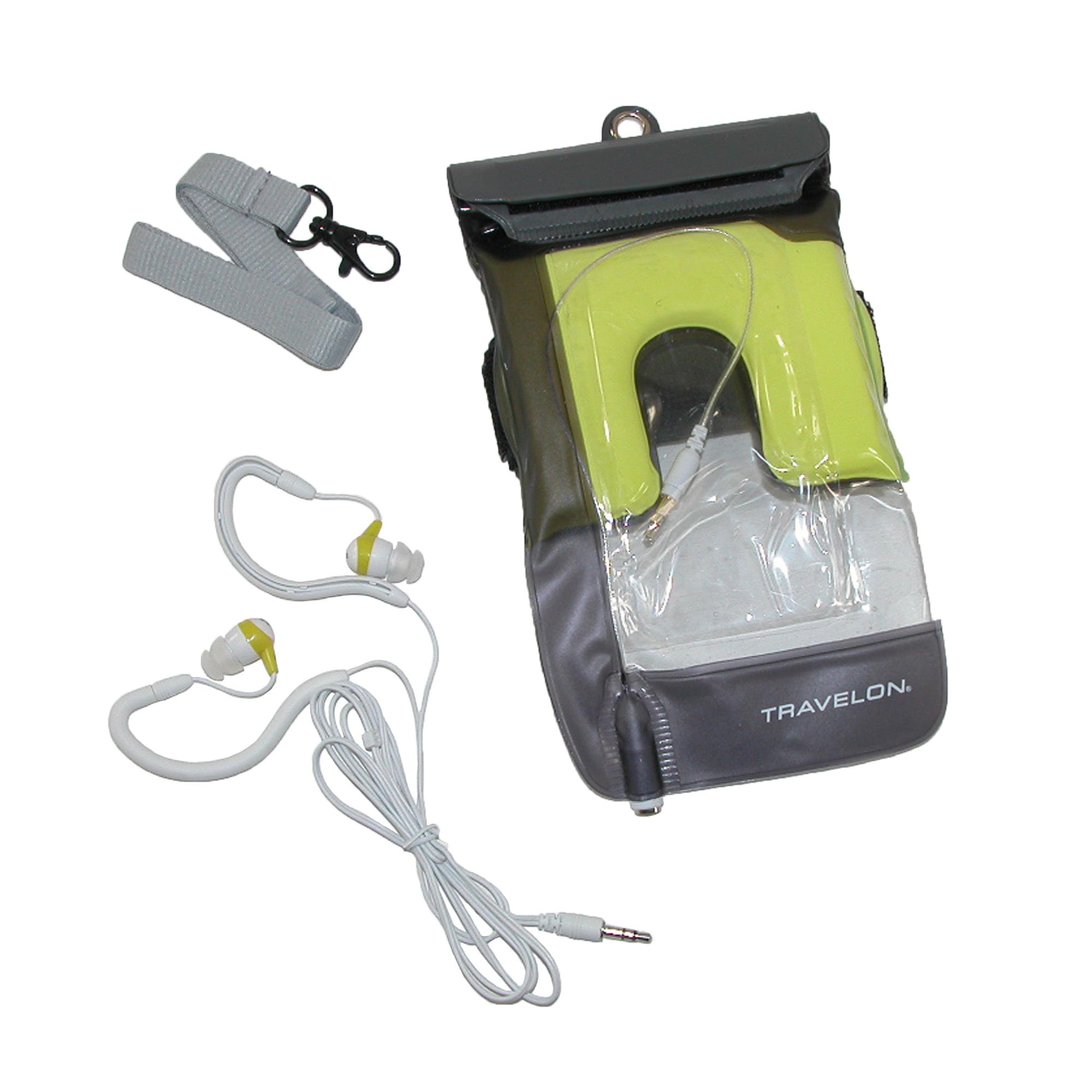 Waterproof Audio Jack and Waterproof Earbuds Smart Phone PouchCharcoal
