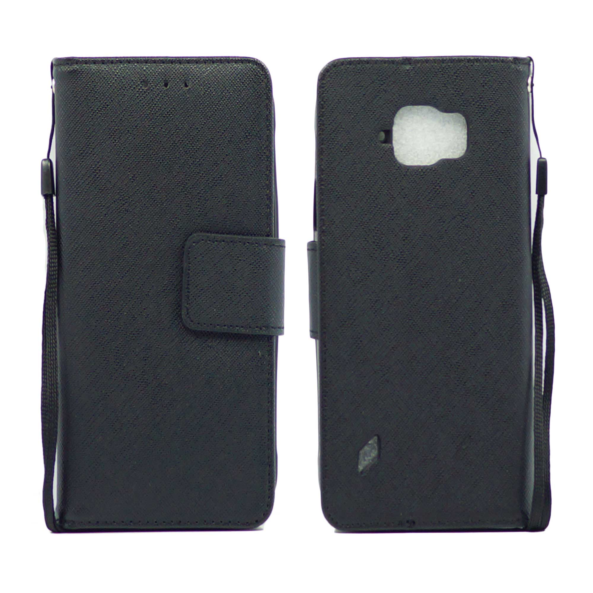 Samsung Galaxy S6 Active Leather Wallet Pouch Case Cover Black