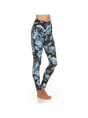 5c17893664e8c Product Image Women's Distinctive All-Over Print Leggings - High Waist -  Black Roses