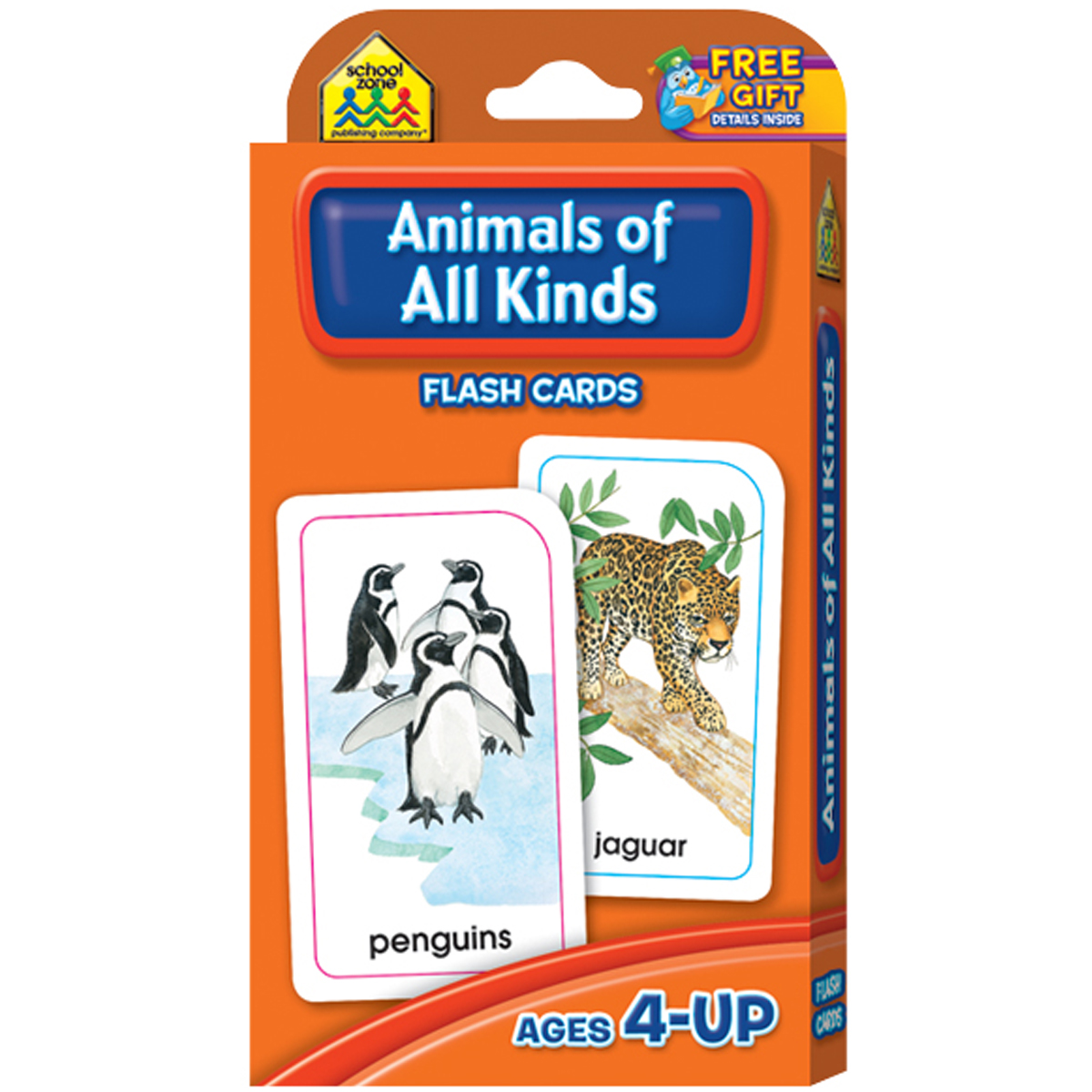 Flash Cards-Animals of All Kinds, 54pk
