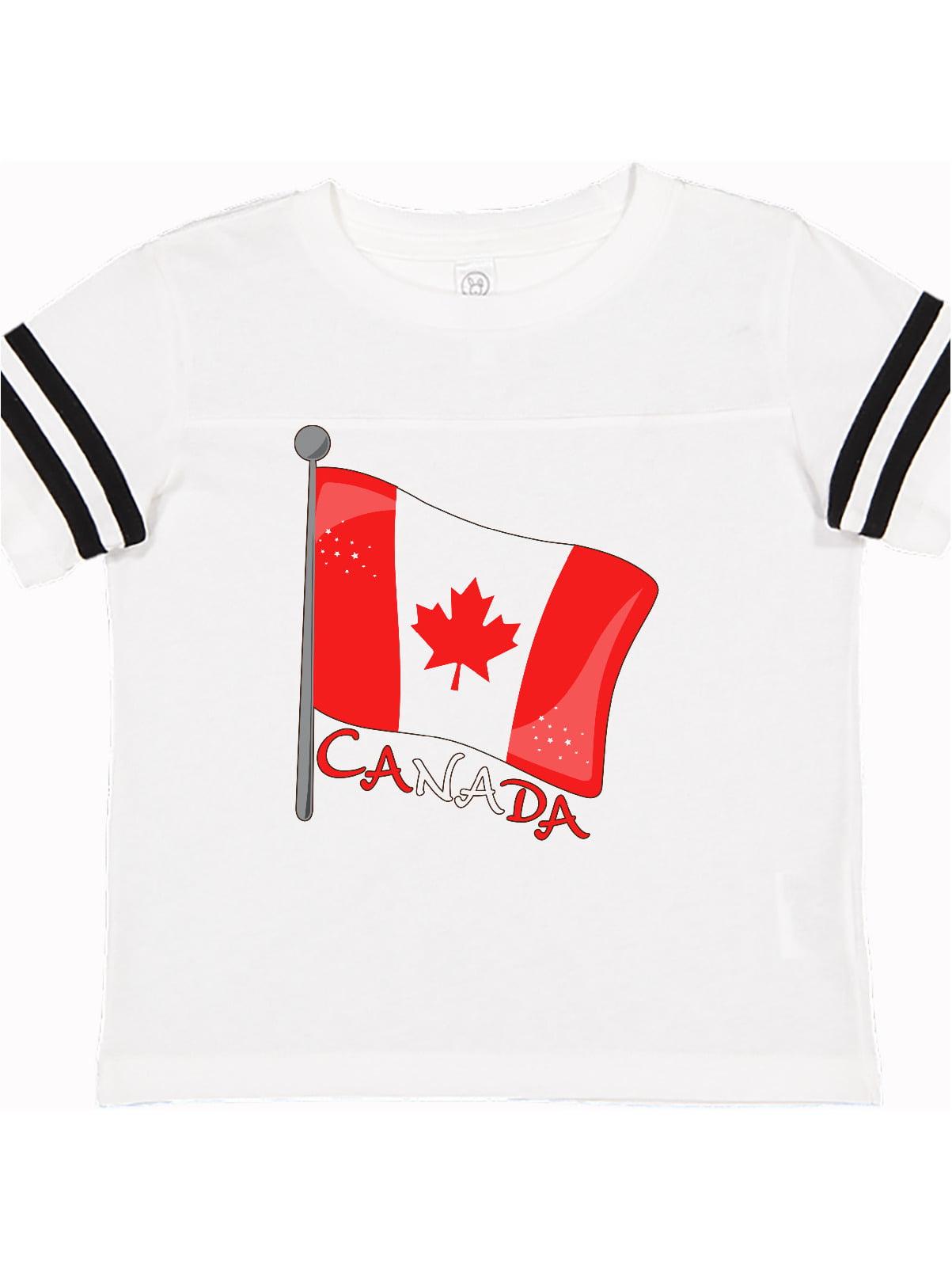Canada Maple Leaf Baby Boys Girls Short Sleeve Crew Neck T-Shirt