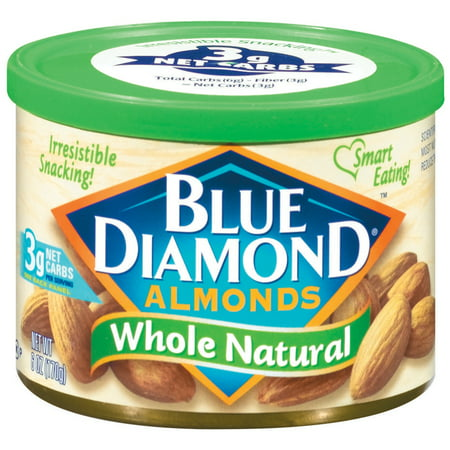 Blue Diamond Cholesterol-Free Whole Natural Almonds, 6 Oz.