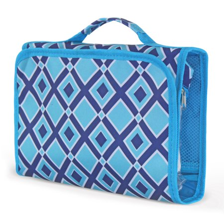 Zodaca Travel Hanging Cosmetic Toiletry Carry Bag Wash Organizer Storage - Pink Quatrefoil - image 1 of 2