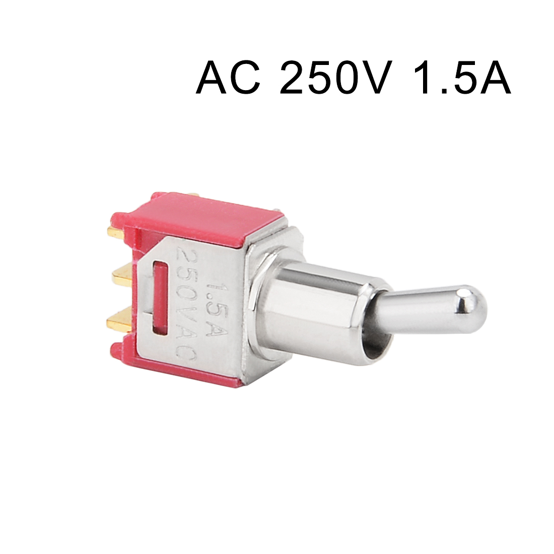 Ac 250v 15a On Spdt Toggle Switch Gold Tone Right Angled Terminals Switched To The