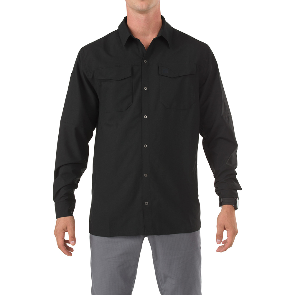Image of 5.11 Freedon Flex Woven Shirt, SS, Black