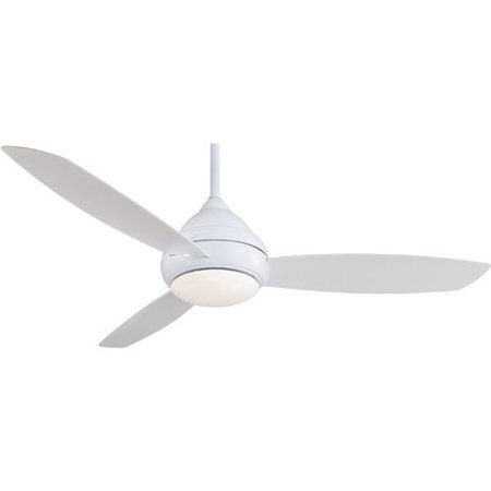 "Minka-Aire F477-WH, Concept I, 58"" Ceiling Fan with Light & Wall Control, White"